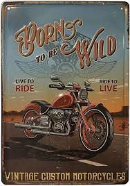 vintage blechschild vintage blech schilder auto altes motorrad für wohnzimmer bar werkstatt garage größe 20 x 30 cm