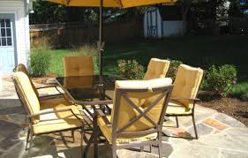 7 Piece Patio Dining Set With Umbrella by Furniture Patio Dining Set With Umbrella Garden Oasis Patio