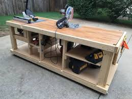 Home Homemade Portable Woodworking Bench I Built A Mobile Workbench Imgur Workbenches