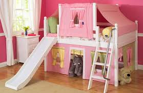 Astounding Girl Loft Bed With Slide 11 Minimalist With Girl