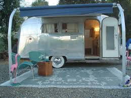 Awning 1963 Vintage Airstream Globetrotter 19 Restored Travel Trailer For Sale