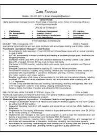 Free Resume Template For Warehouse Supervisor Sample