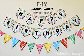 A Mickey And Minnie Mouse Party – Free Printable Happy Birthday