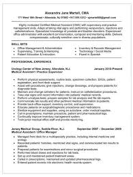 Resume For Certified Medical Assistant