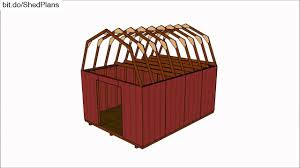12x24 Portable Shed Plans by 12x16 Barn Shed Plans Youtube