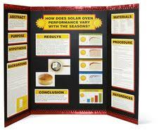 Science Fair Project Display Board With Elmers Popperz Border