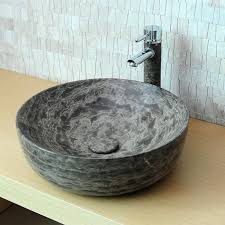 vasque en ronde mabowl marbre brun indoor by