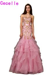 popular pink and gold long prom dress buy cheap pink and gold long