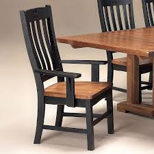 Rustic Mission Arm Chair Black Set Of 2