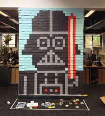 le de bureau wars 3579 post it pour décorer un open space avec des héros de