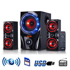 BeFree Sound BFS-99X 2.1 Channel Multimedia Entertainment Shelf ...