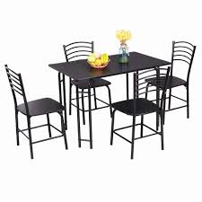 Goplus 5 PCS Black Dining Room Set Modern Wooden Dining Table With 4 Dining  Chairs Steel Frame Home Kitchen Furniture HW54791 White Extending Gloss Ding Table And 6 Chairs Homegenies Ding Room Chandeliers Suitable Add Cheap Modern Table Modern Room Tables That Are On Trend With Traditional And Chairs Folk Costway 5 Piece Kitchen Set Glass Metal 4 Breakfast Fniture Person Chair Whitesage House Craft Design Sets Ideas Electoral7com Edloe Finch Dakota Midcentury Round For Top Top Luxury Malone Midcentury 7piece By Coaster At Dunk Bright