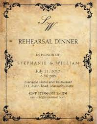 Rehearsal Dinner Invitations Classy Rustic Elegant Vintage Wedding Nice Calligraphy
