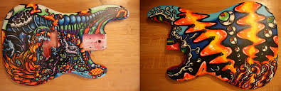 Guitar Bass Body Painting Ideas I Dont Want It To Be Full Of Details Just Customisations Something Like The In Pic Would Ok