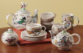 witch and the city Alice in wonderland tea set