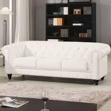 canapé chesterfield cuir blanc canape chesterfield cuir blanc capitonne 3 places canapé topkoo
