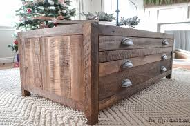 Make A Reclaimed Wood Desk by Ana White Reclaimed Wood Coffee Table With Printmaker Style