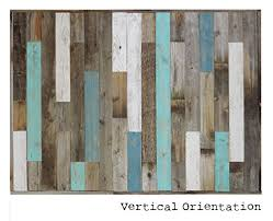 Reclaimed Wood Headboard Panel For King Bed 825 X 375 Made