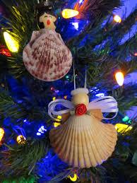 Seashell Christmas Tree Skirt by Festive Seashell Caroler And Angel Ornaments Beach Treasures And