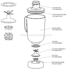 Hamilton Beach 91200 Parts List And Diagram