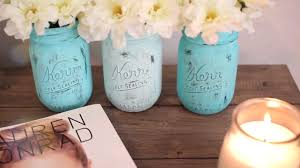 Using Paint On A Mason Jar And Filling It With Flowers Is Great Way To
