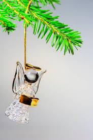 Glass Angel Hanging On The Christmas Tree Stock Photo