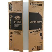 Elmers Tri Fold Corrugated Display Board 28 X 40