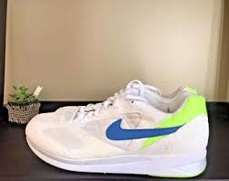 Deadstock 90s Nike Air Mariah Mens Size 9 Running Jogging Athletic Casual Shoes White Neon Blue