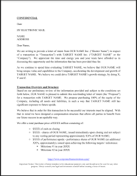 Letter of Intent LOI Template All The Key Terms Included in an LOI
