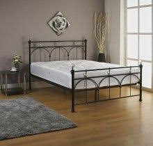 jerome metal bed in white metal bed with four large crystal