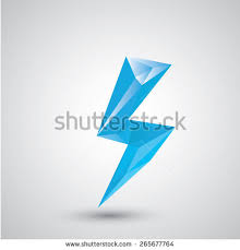 Blue Lightning Bolt Vector Icon Lightning Stock Vector 265677764