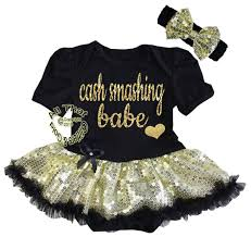 cute white black pink gold 1st birthday tutu dresses for babies