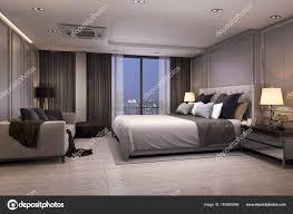 100 Modern Luxury Bedroom Rendering Suite Night Cozy Design Stock