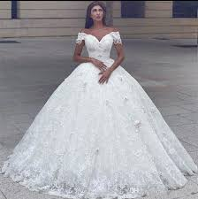 2018 Arabic Capped Sleeves Ball Gown Wedding Dresses f Shoulder 3d