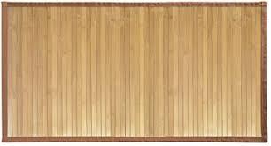 idesign rutschfeste fußmatte langer duschvorleger aus bambus wasserabweisender läufer für badezimmer küche und flur hellbraun