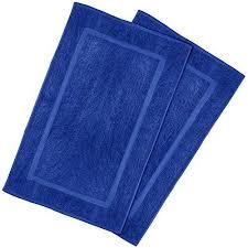 luxury cotton hotel spa tub shower bath mat floor mat 2 pack