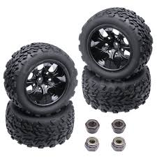4 Pieces RC Monster Truck Wheels Tires Complete Foam Inserted Hex ... Shop Remote Control 4wd Triband Offroad Rock Crawler Rtr Monster 4x 32 Rc 18 Truck Wheels Tires Complete 1580mm Hex Essentials 4x 110 Stadium And Set For Wltoys 18628 118 6wd Climbing Car 5219 Free Shipping 4pcs Rubber 150mm For 17mm 4 Chrome Truck Wheels With Pre Mounted Tires 1 10 Monster Amazoncom Alluing Fourwheel Drive Military Card Strong Power Scale 6 Spoke Short Course Tyres4pc Radio Mounted 4pcs Tyre 12mm Hex Rim Wheel Hsp Hpi Traxxas Off Road Bigfoot In Toys