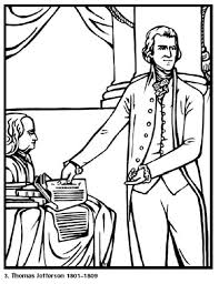 Free Coloring Pages For Kids Thomas Jefferson Our 3rd President Click More