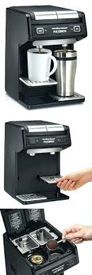 Hamilton Beach 49970 Dual Single Serve Coffee Maker Black Reusable Filter