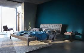 Modern Dark Blue Bedroom Design Decorating Ideas Contemporary Minimalist Style