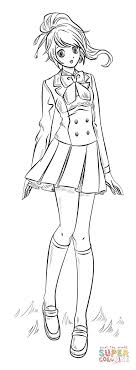 Click The Anime Girl Coloring Pages To View Printable