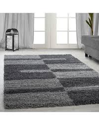 hochflor langflor wohnzimmer gala shaggy teppich florhöhe 3cm grau hellgrau größe 60x110 cm