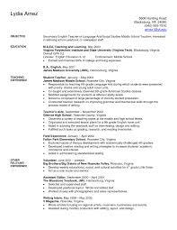 Awesome Example Resume Teacher Sample Objective Of 25 Unique