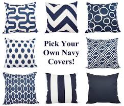 Decorative Couch Pillow Covers by Best 25 Navy Pillows Ideas On Pinterest Living Room Decor
