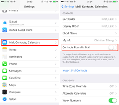 to Disable Contacts Found in Mail on iPhone in iOS 9