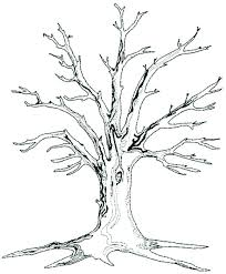Holiday Coloring Pages Fall Tree Page Bare Pattern Printable