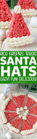 Rice Krispie Christmas Trees Recipe by Rice Krispies Treats Santa Hats Recipe Easy Christmas Treats