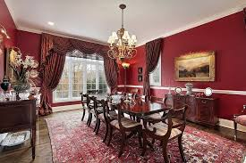 Dramatic Wine Colored Walls And Curtains