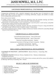 Resume Counselor Mental Health Resumes Design With Regard To Sample School