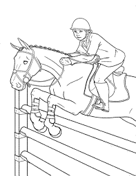 Horse Jumping Coloring Pages 1505 Ethicstechorg
